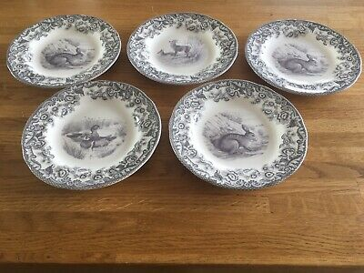 Spode Delamere Rural Set Of Five Sideplates NEW • 33£