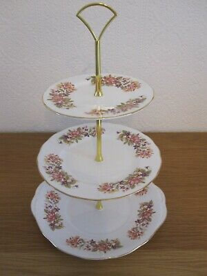 Vintage Bone China 2/3 Tier Cake Stand - Colclough  Wayside  • 20£