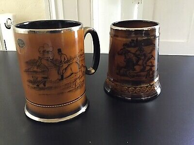 Vintage Pottery Tankards • 1.20£