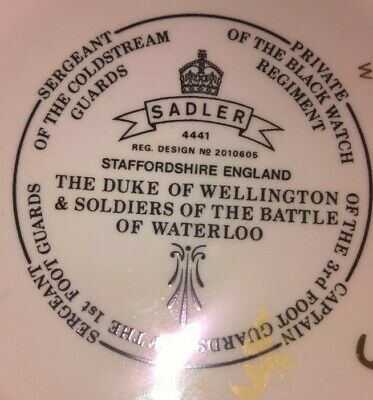 Sadler Teapot - The Duke Of Wellington And Soldiers Of The Battle Of Waterloo • 7£