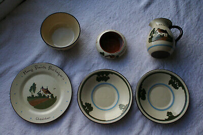 Vintage Watcombe Babbacombe Devon/Torquay/Motto Ware Collection 6 Pieces • 9£
