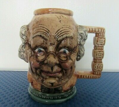 Very Rare Large Vintage Toby Jug Mug - Cheshire Ceramics Old Man Glasses • 7.99£