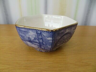 Ringtons Wade Hexagonal Bowl – North Eastern Bridges • 14£
