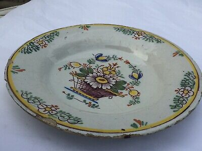 An 18th Century Polychrome English Delft Plate. • 250£