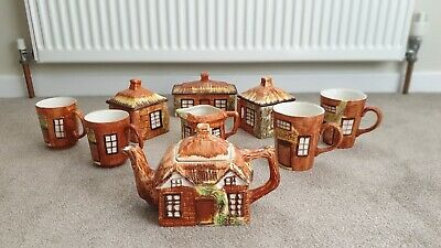***Cottage Ware*** Pottery Tea 9 Pieces Set • 49£