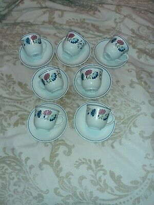 Bhs Priory Cups And Saucers X 7 • 4.99£
