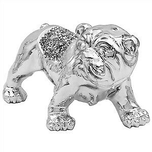 Millie Crystal Bulldog, Ornament, Bling!!  Free P&p  • 15.99£