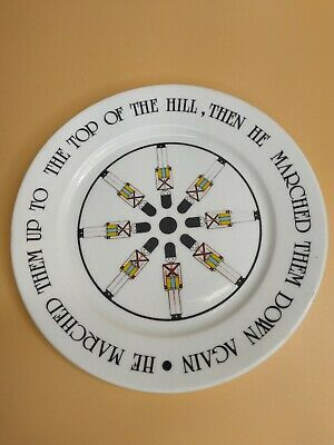 Vtg The Grand Old Duke Of York Childrens Plate Barbecco Parallel England Wall  • 15.50£