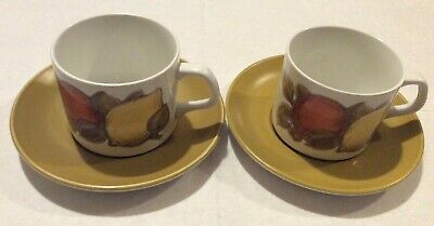 J & G Meakin Studio St Clements X2 Cups And Saucers • 8£