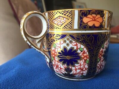Royal Crown Derby Porcelain - Old Imari Gilded Coffee Can Cup  1128 • 12.50£