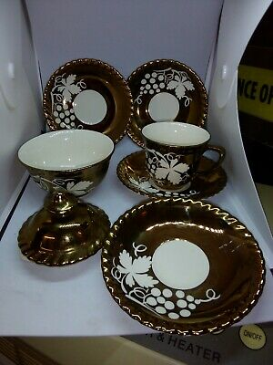 Gray's Pottery Cupx1, 4xsaucers, 1xsugar Bowl, 1xteapot Lid, For Spares,see Pics • 4.75£