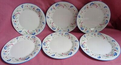 6 Royal Doulton Expression Windermere 8 Inch Plates • 18£