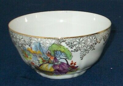 Nice Early English Fine China Crinoline Lady Sugar Bowl With 22k Gold Detail • 6.99£