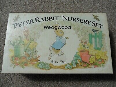 Wedgewood 4 - Piece Peter Rabbit Nursery Set In Original Box UNUSED • 14.99£