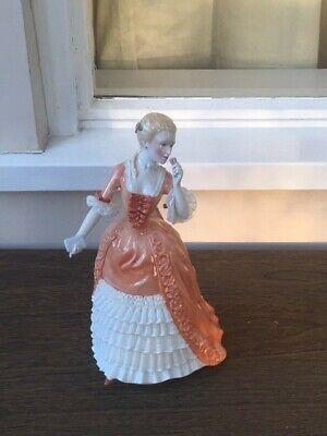 Franklin Porcelain A Rose For Genevieve Figurine Used In Good Condition  • 20£