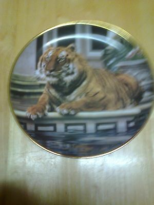 Franklin Mint Reflective Tiger Plate • 5£