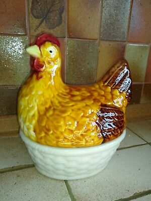 Lovely Vintage Kitchen Chicken Hen Egg Storage. C1940s • 25£