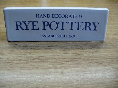 Rye Pottery Advertising Sign • 20£