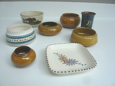 Job Lot Of 7 Vintage Devon Pottery Items / Dishes & Bowls • 5.50£