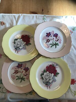 Job Lot 4 X Vintage China Side Plates Colclough And Queen Anne • 2.60£