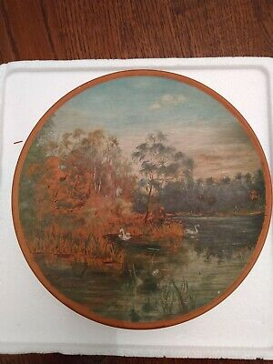 Watcombe Pottery Devon Terracotta Cabinet Decorative Wall Plate • 19.99£