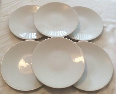 Marks And Spencer Andante (6 In Total) White Round Side Plates 21 Cm • 18£