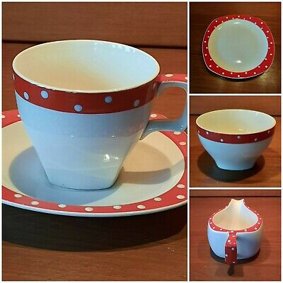 Midwinter Red Domino,Teapot,Cup & Saucers,plates,milk & Sugar,priced Seperately • 15£