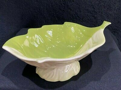 Carltonware Two Tone Green Footed Pedestal Dish • 15£