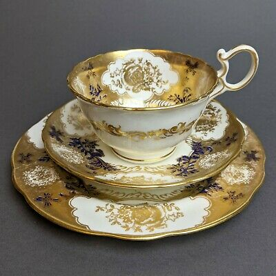Antique 1920s Hammersley Gilded Tea Cup & Saucer Trio Pat. No 14440 • 49.99£