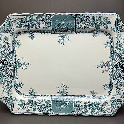 Antique 1885 Aesthetic Movement Wallis Gimson Alexandria Platter - 39cm • 29.99£