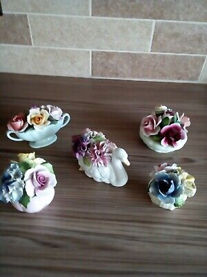 Collection Of Bone China Flower Ornaments • 5.99£