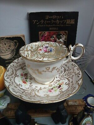 Coalport Coffee ☕ Cup And Saucer 1830 Hand Painted  • 160£