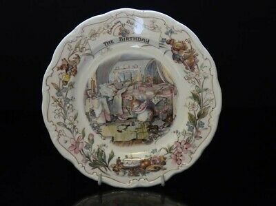 Brambly Hedge 8  Plate - The Birthday - Condition Very Good, Used For Display • 10£
