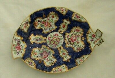Early Worcester (First Period) Porcelain Leaf Shaped Dish. C1755  A/F • 20£