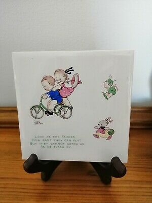 Rare Mabel Lucie Attwell Commemorative Tile ~ Year 2000 ~ BNIB • 25£