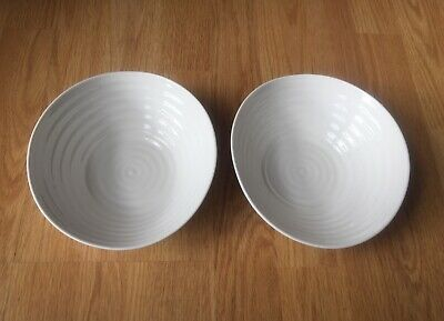 """X2 Sophie Conran For Portmeirian Cereal Bowls 7.5"""" ~ White ~ New • 16.99£"""