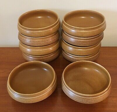 DENBY/LANGLEY CANTERBURY POTTERY Cereal Bowls / Fruit Bowls - Set Of 10 • 45£