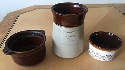English Stoneware Brown Biltons Dish And Pearson & Co Whittington Moor Container • 0.99£