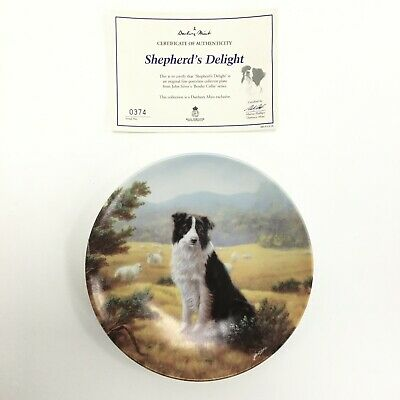 Royal Worcester Collector Shepherds Delight Plate Boarder Collie Series 351111 • 6.99£