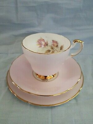 Vintage Floral Pink Paragon Tea Cup, Saucer And Side Plate • 4.99£