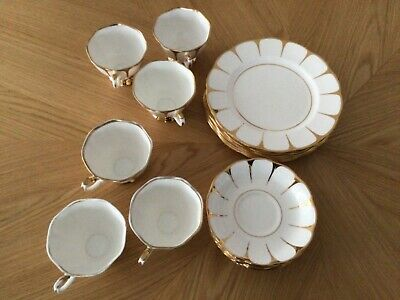 Royal Vale Bone China Tea Set Cups, Saucers, Tea Plates. • 7£