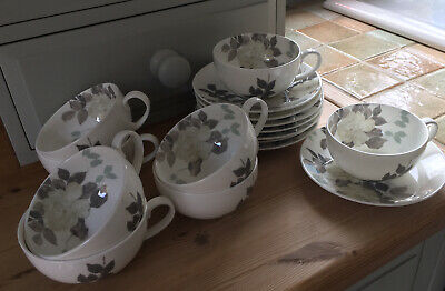 Set Of Tea Cups & Saucers By Laura Ashley Fine Bone China Hand Decorate • 35£