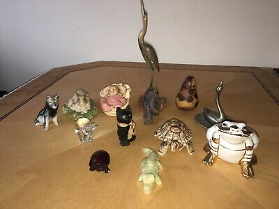 Mixed Collectable Animal Figurines And Paperweights Including Wade Parsley Etc • 0.99£