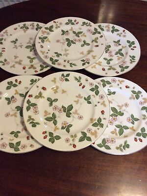 WEDGWOOD Wild Strawberry Dinner Plates X 6 - Excellent Condition • 70£