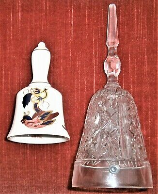 Two Bells . Coalport Porcelain China Bell & Maid Call Glass Bell • 3.99£