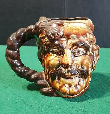 Unusual Vintage Guernsey Pottery Character / Toby Jug, Wee Willy Winkie • 8£
