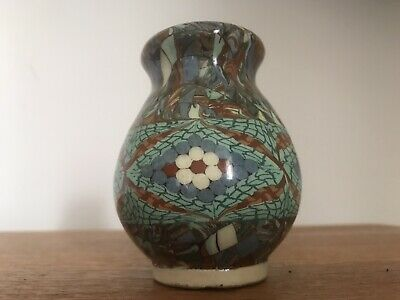 Vintage Jean Gerbino Mosaic Vase - Signed - C1950 - French - Vallauris (A.M) 9cm • 29.99£