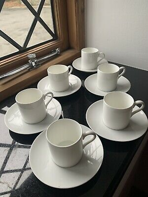 Thomas Of Germany,  White Coffee Cup And Saucer X 6(small Demitasse Size) • 11.99£