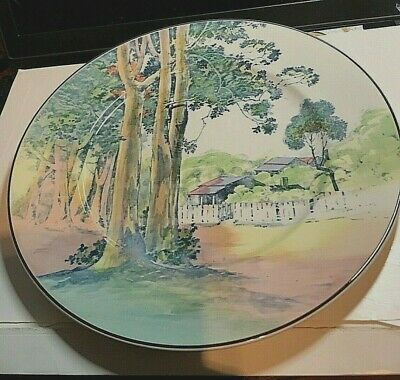 Vintage ROYAL DOULTON CABINET PLATE   COUNTRY SIDE SCENE    • 15£