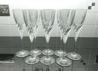 8 Crystal Champagne Flutes In Excellent Condition • 15£